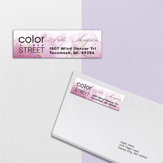 Watercolor Color Street Address Labels, Personalized Return Address Label CL203