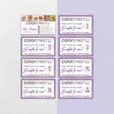 Personalized Color Street Scratch To Win, Glitter Color Street Scratch Off Cards CL205