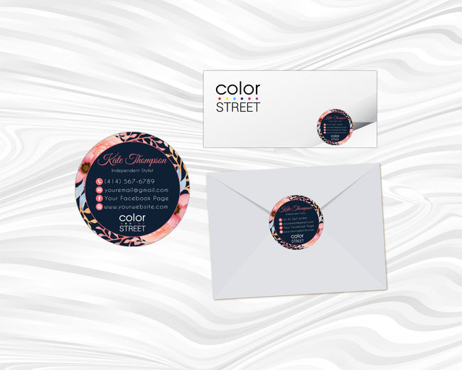 Color Street Marketing Bundle, Personalized Color Street Cards CL91 - ToboArt