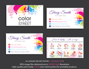 PERSONALIZED COLOR STREET BUSINESS CARDS, COLOR STREET APPLICATION CARDS, CL04