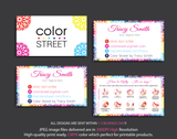 PERSONALIZED COLOR STREET BUSINESS CARDS, COLOR STREET APPLICATION CARDS, CL06 - ToboArt