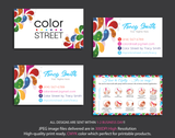 PERSONALIZED COLOR STREET BUSINESS CARDS, COLOR STREET APPLICATION CARDS, CL09 - ToboArt