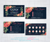 PERSONALIZED COLOR STREET BUSINESS CARDS, COLOR STREET APPLICATION CARDS, CL93 - ToboArt