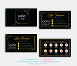 PERSONALIZED COLOR STREET BUSINESS CARDS, COLOR STREET APPLICATION CARDS, CL100