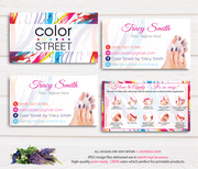 PERSONALIZED COLOR STREET BUSINESS CARDS, COLOR STREET APPLICATION CARDS, CL11
