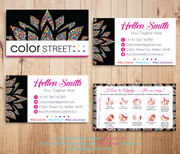 PERSONALIZED COLOR STREET BUSINESS CARDS, COLOR STREET APPLICATION CARDS, CL68
