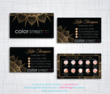 PERSONALIZED COLOR STREET BUSINESS CARDS, COLOR STREET APPLICATION CARDS, CL97 - ToboArt