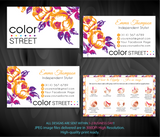 COLOR STREET BUSINESS CARDS, PERSONALIZED COLOR STREET APPLICATION CARDS, CL62