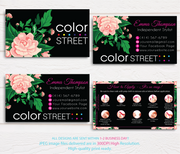 COLOR STREET BUSINESS CARDS, PERSONALIZED COLOR STREET APPLICATION CARDS, CL60 Black