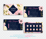 PERSONALIZED COLOR STREET BUSINESS CARDS, COLOR STREET APPLICATION CARDS, CL103