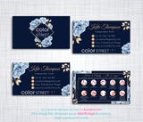 PERSONALIZED COLOR STREET BUSINESS CARDS, COLOR STREET APPLICATION CARDS, CL98