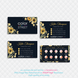 COLOR STREET BUSINESS CARDS, PERSONALIZED COLOR STREET APPLICATION CARDS, CL167 - ToboArt