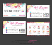 PERSONALIZED COLOR STREET BUSINESS CARDS, COLOR STREET APPLICATION CARDS, CL45 White