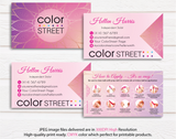 PERSONALIZED COLOR STREET BUSINESS CARDS, COLOR STREET APPLICATION CARDS, CL33