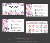 COLOR STREET BUSINESS CARDS, PERSONALIZED COLOR STREET APPLICATION CARDS, CL38 - ToboArt
