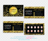 PERSONALIZED COLOR STREET BUSINESS CARDS, COLOR STREET APPLICATION CARDS, CL101