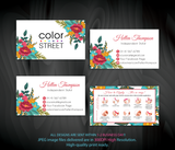 COLOR STREET BUSINESS CARDS, PERSONALIZED COLOR STREET APPLICATION CARDS, CL115