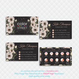 PERSONALIZED COLOR STREET BUSINESS CARDS, COLOR STREET APPLICATION CARDS, CL143 - ToboArt