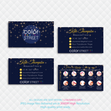 PERSONALIZED COLOR STREET BUSINESS CARDS, COLOR STREET APPLICATION CARDS, CL134