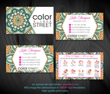 PERSONALIZED COLOR STREET BUSINESS CARDS, COLOR STREET APPLICATION CARDS, CL89 - ToboArt