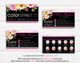 PERSONALIZED COLOR STREET BUSINESS CARDS, COLOR STREET APPLICATION CARDS, CL27