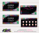 PERSONALIZED COLOR STREET BUSINESS CARDS, COLOR STREET APPLICATION CARDS, CL05 Black - ToboArt