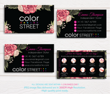 PERSONALIZED COLOR STREET BUSINESS CARDS, COLOR STREET APPLICATION CARDS, CL70 Black