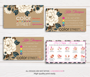 PERSONALIZED COLOR STREET BUSINESS CARDS, COLOR STREET APPLICATION CARDS, CL48