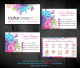 COLOR STREET BUSINESS CARDS, PERSONALIZED COLOR STREET APPLICATION CARDS, CL79