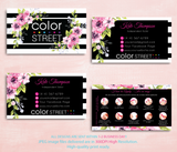 PERSONALIZED COLOR STREET BUSINESS CARDS, COLOR STREET APPLICATION CARDS, CL85