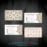 PERSONALIZED COLOR STREET BUSINESS CARDS, COLOR STREET APPLICATION CARDS, CL168