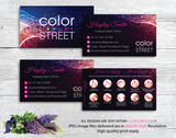 PERSONALIZED COLOR STREET BUSINESS CARDS, COLOR STREET APPLICATION CARDS, CL34