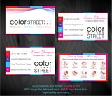 PERSONALIZED COLOR STREET BUSINESS CARDS, COLOR STREET APPLICATION CARDS, CL75