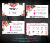 COLOR STREET BUSINESS CARDS, PERSONALIZED COLOR STREET APPLICATION CARDS, CL70 White - ToboArt