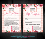 Color Street Marketing Bundle, Personalized Color Street Cards CL81 - ToboArt