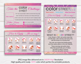 Color Street Marketing Bundle, Personalized Color Street Cards CL33 - ToboArt