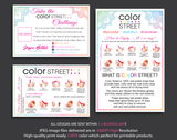 Color Street Marketing Bundle, Personalized Color Street Cards CL30 - ToboArt