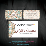 Color Street Marketing Bundle, Personalized Color Street Cards CL168 - ToboArt