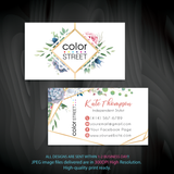 PERSONALIZED COLOR STREET BUSINESS CARDS, COLOR STREET APPLICATION CARDS, CL172 - ToboArt