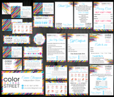 Color Street Marketing Bundle, Personalized Color Street Cards CL57 - ToboArt