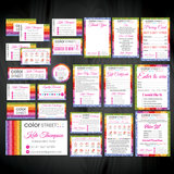 Color Street Marketing Bundle, Personalized Color Street Cards CL129 - ToboArt