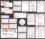 Color Street Marketing Bundle, Personalized Color Street Cards CL25 - ToboArt