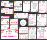 Color Street Marketing Bundle, Personalized Color Street Cards CL23 - ToboArt