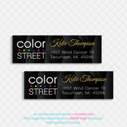 Personalized Color Street Address Label, Nail Return Address Label CL162