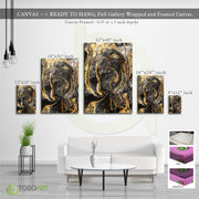 Foil Gold Marble Art, Canvas Art CV13 Portrait Canvas .75in Frame