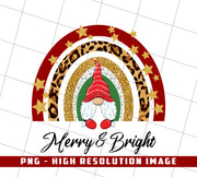 Merry & Bright, Christmas Present, PNG Printable
