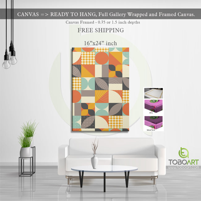 Geometric Canvas Art, Geometric Canvas CV49