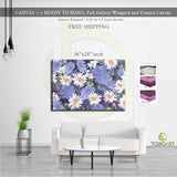 Floral Seamless Canvas Art CV50 Landscape Canvas .75in Frame