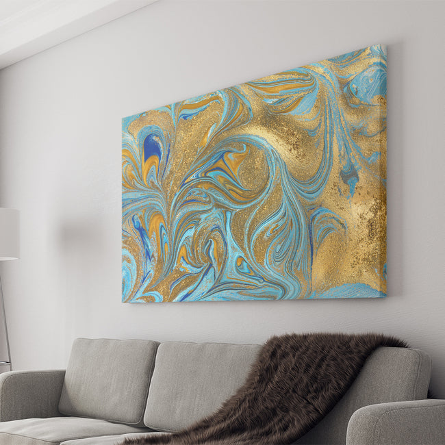 Marble Abstract Landscape, Wall Art Canvas .75in Frame CV20