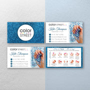 Personalized Color Street, Glitter Color Street Cards, Color Street Application CL182